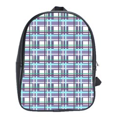 Decorative Plaid Pattern School Bags(large)  by Valentinaart