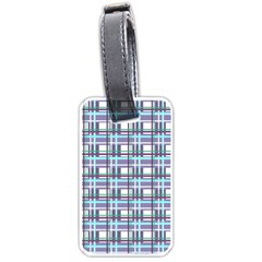 Decorative Plaid Pattern Luggage Tags (two Sides) by Valentinaart