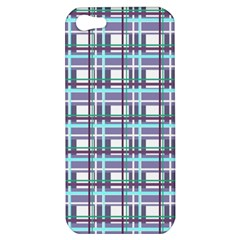 Decorative Plaid Pattern Apple Iphone 5 Hardshell Case by Valentinaart