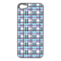 Decorative Plaid Pattern Apple Iphone 5 Case (silver) by Valentinaart