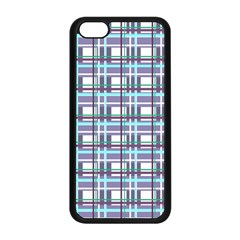 Decorative Plaid Pattern Apple Iphone 5c Seamless Case (black) by Valentinaart