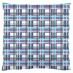 Decorative Plaid Pattern Large Flano Cushion Case (two Sides) by Valentinaart