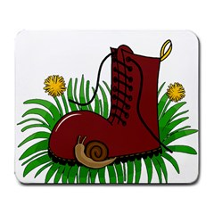 Boot In The Grass Large Mousepads by Valentinaart