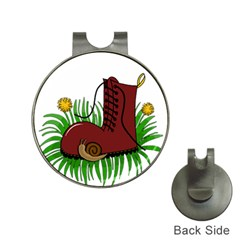 Boot In The Grass Hat Clips With Golf Markers by Valentinaart