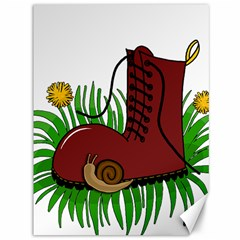 Boot In The Grass Canvas 36  X 48   by Valentinaart
