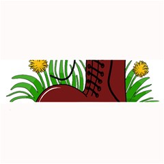 Boot In The Grass Large Bar Mats by Valentinaart