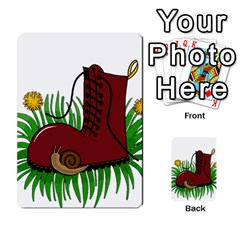 Boot In The Grass Multi Purpose Cards (rectangle)  by Valentinaart