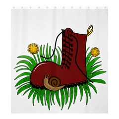 Boot In The Grass Shower Curtain 66  X 72  (large)