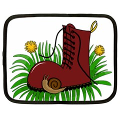 Boot In The Grass Netbook Case (xl)  by Valentinaart