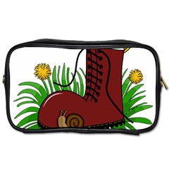 Boot In The Grass Toiletries Bags by Valentinaart