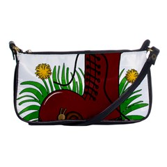 Boot In The Grass Shoulder Clutch Bags by Valentinaart