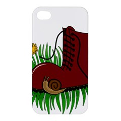 Boot In The Grass Apple Iphone 4/4s Premium Hardshell Case by Valentinaart