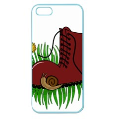 Boot In The Grass Apple Seamless Iphone 5 Case (color) by Valentinaart