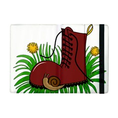 Boot In The Grass Apple Ipad Mini Flip Case by Valentinaart