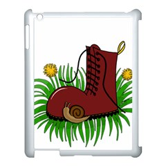 Boot In The Grass Apple Ipad 3/4 Case (white) by Valentinaart