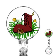 Boot In The Grass Stainless Steel Nurses Watch by Valentinaart