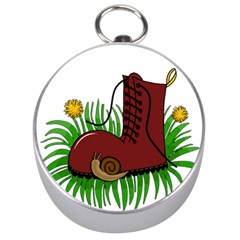 Boot In The Grass Silver Compasses by Valentinaart