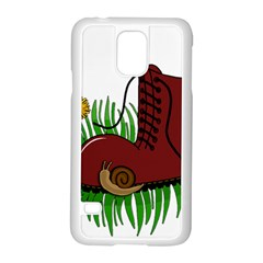 Boot In The Grass Samsung Galaxy S5 Case (white) by Valentinaart