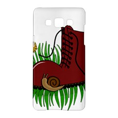 Boot In The Grass Samsung Galaxy A5 Hardshell Case  by Valentinaart