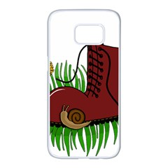 Boot In The Grass Samsung Galaxy S7 Edge White Seamless Case