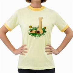 Barefoot In The Grass Women s Fitted Ringer T-shirts by Valentinaart
