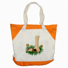 Barefoot In The Grass Accent Tote Bag by Valentinaart