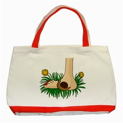 Barefoot In The Grass Classic Tote Bag (red)