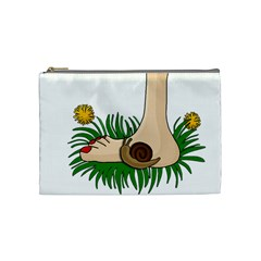 Barefoot In The Grass Cosmetic Bag (medium)  by Valentinaart