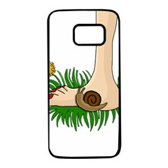 Barefoot In The Grass Samsung Galaxy S7 Black Seamless Case by Valentinaart