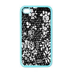 Vintage Black And White Flower Apple Iphone 4 Case (color) by Brittlevirginclothing