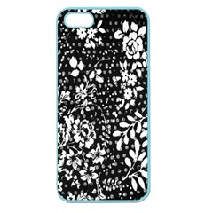 Vintage Black And White Flower Apple Seamless Iphone 5 Case (color) by Brittlevirginclothing
