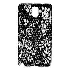 Vintage Black And White Flower Samsung Galaxy Note 3 N9005 Hardshell Case by Brittlevirginclothing