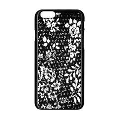 Vintage Black And White Flower Apple Iphone 6/6s Black Enamel Case by Brittlevirginclothing