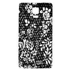 Vintage Black And White Flower Galaxy Note 4 Back Case by Brittlevirginclothing