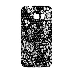Vintage Black And White Flower Galaxy S6 Edge by Brittlevirginclothing