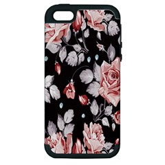 Vintage Colorful Flower  Apple Iphone 5 Hardshell Case (pc+silicone) by Brittlevirginclothing