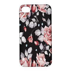 Vintage Colorful Flower  Apple Iphone 4/4s Hardshell Case With Stand by Brittlevirginclothing