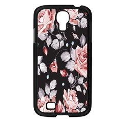 Vintage Colorful Flower  Samsung Galaxy S4 I9500/ I9505 Case (black) by Brittlevirginclothing