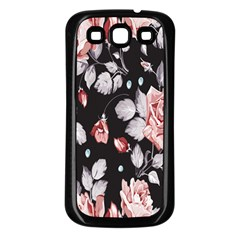 Vintage Colorful Flower  Samsung Galaxy S3 Back Case (black) by Brittlevirginclothing