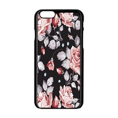 Vintage Colorful Flower  Apple Iphone 6/6s Black Enamel Case by Brittlevirginclothing