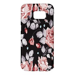 Vintage Colorful Flower  Samsung Galaxy S7 Edge Hardshell Case