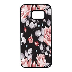 Vintage Colorful Flower  Samsung Galaxy S7 Black Seamless Case by Brittlevirginclothing