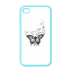 Lovely Butterfly Apple Iphone 4 Case (color) by Brittlevirginclothing
