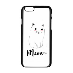 Cute Kitty  Apple Iphone 6/6s Black Enamel Case by Brittlevirginclothing