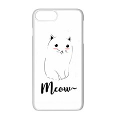 Cute Kitty  Apple Iphone 7 Plus White Seamless Case