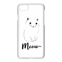 Cute Kitty  Apple Iphone 7 Seamless Case (white) by Brittlevirginclothing