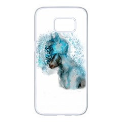 Smoking Batman Samsung Galaxy S7 Edge White Seamless Case by Brittlevirginclothing