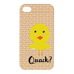 Quack Duck Apple Iphone 4/4s Hardshell Case by Brittlevirginclothing