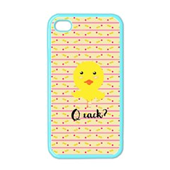 Quack Duck Apple Iphone 4 Case (color) by Brittlevirginclothing