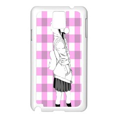 Cute Anime Girl  Samsung Galaxy Note 3 N9005 Case (white) by Brittlevirginclothing